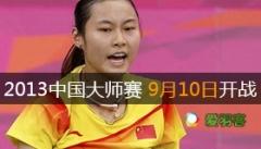 2013中国羽毛球大师赛将于9月10日于常州开赛