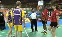迪柱/古塔VS摩根森/马琳 2013印度羽毛球联赛 混双资格赛视频