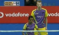 摩根森/巴兰VS加德雷/科纳 2013印度羽毛球联赛 混双资格赛视频