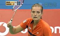 辛德胡VS鲍恩 2013印度羽毛球联赛 女单半决赛明仕亚洲官网