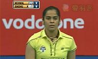 内维尔VS辛德胡 2013印度羽毛球联赛 女单决赛视频