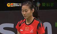 王仪涵VS因达农 2013丹麦公开赛 女单半决赛视频