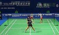 当甲农/库查拉VS克鲁斯/罗布克 2013中国公开赛 女双1/16决赛视频