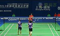 王晓理/于洋VS程文欣/谢沛蓁 2013中国公开赛 女双1/4决赛视频