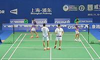 蔡赟/柴飚VS傅海峰/洪炜 2013中国公开赛 男双1/8决赛视频