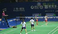 包宜鑫/钟倩欣VS当甲农/库查拉 2013中国公开赛 女双半决赛视频
