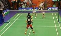 包宜鑫/汤金华VS王晓理/于洋 2013香港公开赛 女双1/4决赛视频