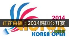 2014年韩国羽毛球公开赛 直播表