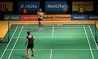 辛德胡VS法内特里 2014马来公开赛 女单1/16决赛视频