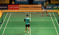 杜鹏宇VS刘国伦 2014马来公开赛 男单1/16决赛视频
