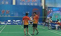 张杰/李隆宇(湖南)VS陈欣/谢坤(四川) 2014贺岁杯对抗赛 男双三四名决赛视频
