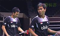 金沙朗/柳延星VS阿山/塞蒂亚万 2014新加坡公开赛 男双1/4决赛视频