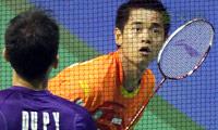 西蒙VS杜鹏宇 2014新加坡公开赛 男单半决赛视频