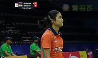 辛德胡VS蓬迪 2014尤伯杯 女单资格赛视频