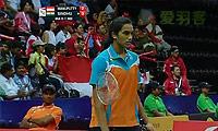 辛德胡VS玛努布蒂 2014尤伯杯 女单1/4决赛视频