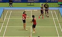 雷扎/玛丽莎VS尼迪蓬/普缇塔 2014日本公开赛 混双1/8决赛视频