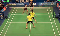 刘小龙/邱子瀚VS吴伟申/林钦华 2014印尼公开赛 男双1/16决赛视频