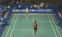 李雪芮VS菲尔达萨里 2014印尼公开赛 女单1/8决赛视频
