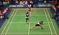 尼尔森/佩蒂森VS李龙大/申升瓒 2014印尼公开赛 混双半决赛视频