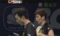 李龙大/柳延星VS傅海峰/张楠 2014印尼公开赛 男双半决赛视频