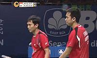 阿山/塞蒂亚万VS金基正/金沙朗 2014印尼公开赛 男双半决赛视频