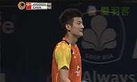 约根森VS谌龙 2014印尼公开赛 男单半决赛视频