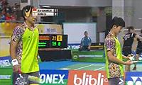 盖尔/苏卡穆约VS黄柏睿/卢敬尧 2014印尼大师赛 男双半决赛视频