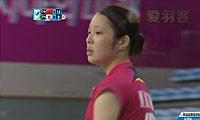 李雪芮VS三谷美菜津 2014亚运会 女团女单半决赛视频