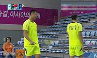 徐晨/张楠VS陈文宏/云天豪 2014亚运会 男团男双半决赛视频