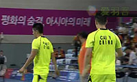 蔡赟/傅海峰VS金基正/金沙朗 2014亚运会 男团男双决赛视频
