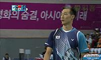 李炫一VS高欢 2014亚运会 男团男单决赛视频