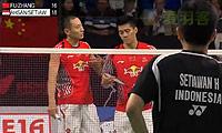傅海峰/张楠VS阿山/塞蒂亚万 2014丹麦公开赛 男双1/4决赛视频