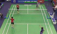 于洋/王晓理VS骆赢/骆羽 2014法国公开赛 女双半决赛视频