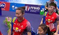 于洋/王晓理VS马晋/唐渊渟 2014法国公开赛 女双决赛视频