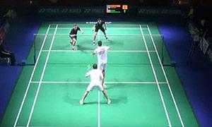 伊万诺夫/索松诺夫VS索伦森/安德斯 2015德国公开赛 男双半决赛视频