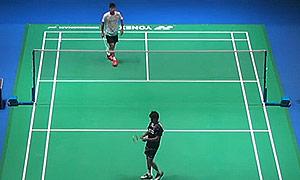 周天成VS卡什亚普 2015全英公开赛 男单1/16决赛视频