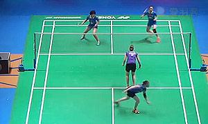 包宜鑫/唐渊渟VS佩蒂森/尤尔 2015全英公开赛 女双1/4决赛视频