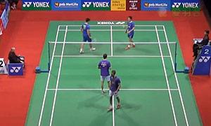 鲍伊/摩根森VS王懿律/张稳 2015印度公开赛 男双1/4决赛视频