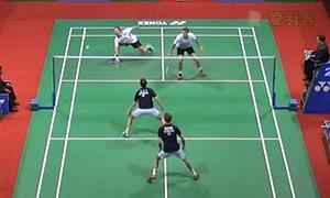 彼德森/科丁VS鲍伊/摩根森 2015印度公开赛 男双半决赛视频