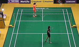 李雪芮VS杰克斯菲德 2015马来公开赛 女单1/16决赛视频