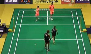 徐晨/马晋VS催率圭/蔡侑玎 2015马来公开赛 混双1/8决赛视频