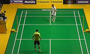 约根森VS魏楠 2015马来公开赛 男单1/4决赛视频
