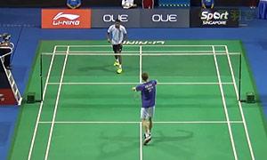 阿萨尔森VS欧斯夫 2015新加坡公开赛 男单1/16决赛视频