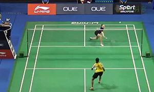 杰克斯菲德VS图拉西 2015新加坡公开赛 女单1/16决赛视频