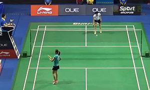 张蓓雯VS叶姵延 2015新加坡公开赛 女单1/16决赛视频