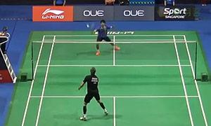 约根森VS普拉尼斯 2015新加坡公开赛 男单1/16决赛视频