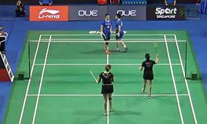 王晓理/于洋VS古塔/蓬纳帕 2015新加坡公开赛 女双1/8决赛视频