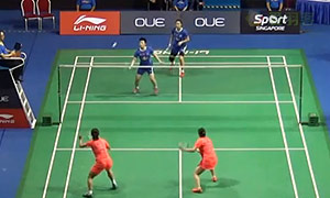 王晓理/于洋VS黄雅琼/马晋 2015新加坡公开赛 女双1/4决赛视频