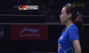 张楠/赵芸蕾VS艾哈迈德/纳西尔 2015新加坡公开赛 混双半决赛视频