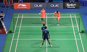 鲁恺/黄雅琼VS徐晨/马晋 2015新加坡公开赛 混双半决赛视频